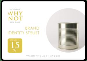 sconto 15% brand identity stylist