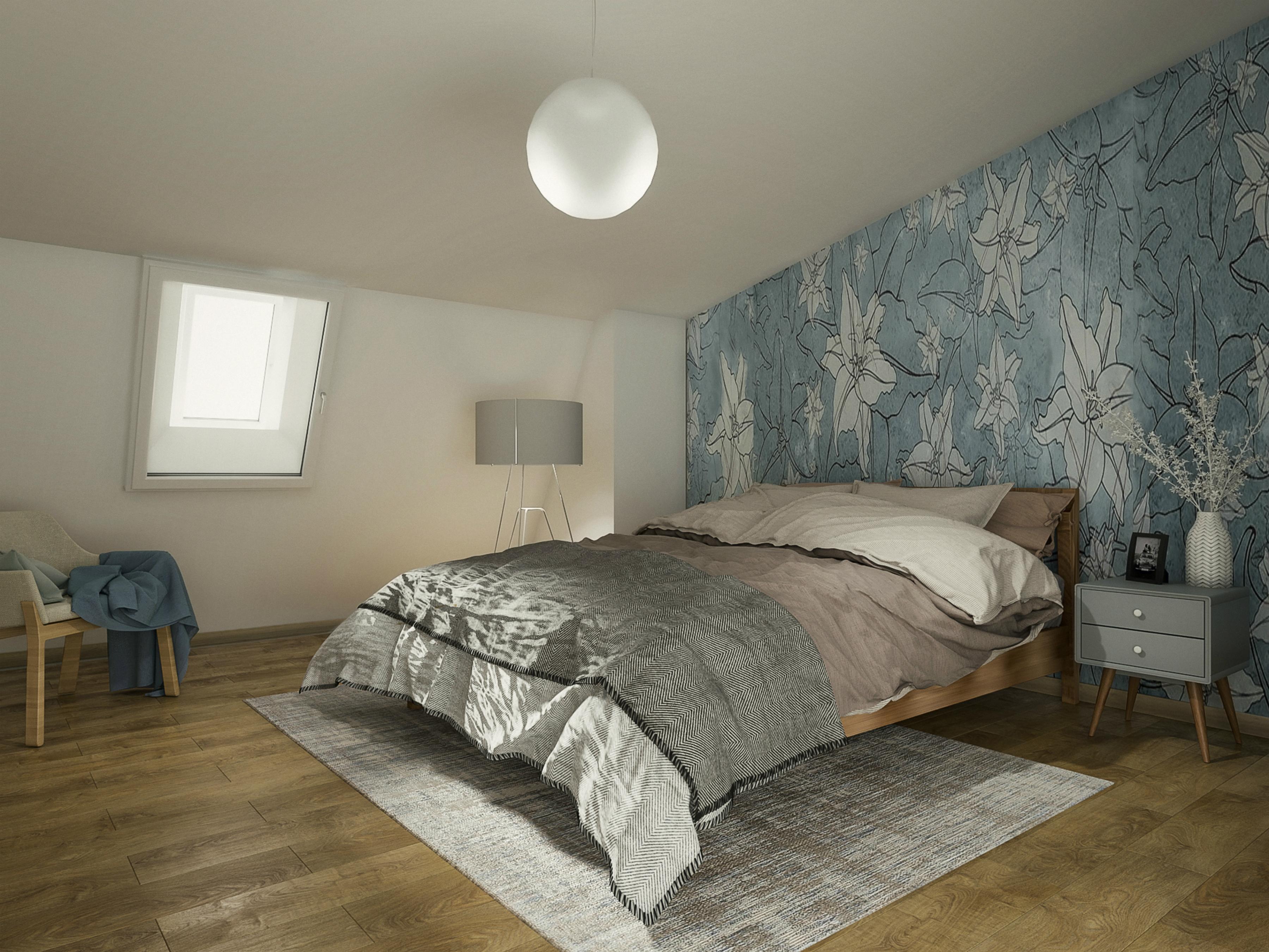 A camera da letto dopo gli interventi