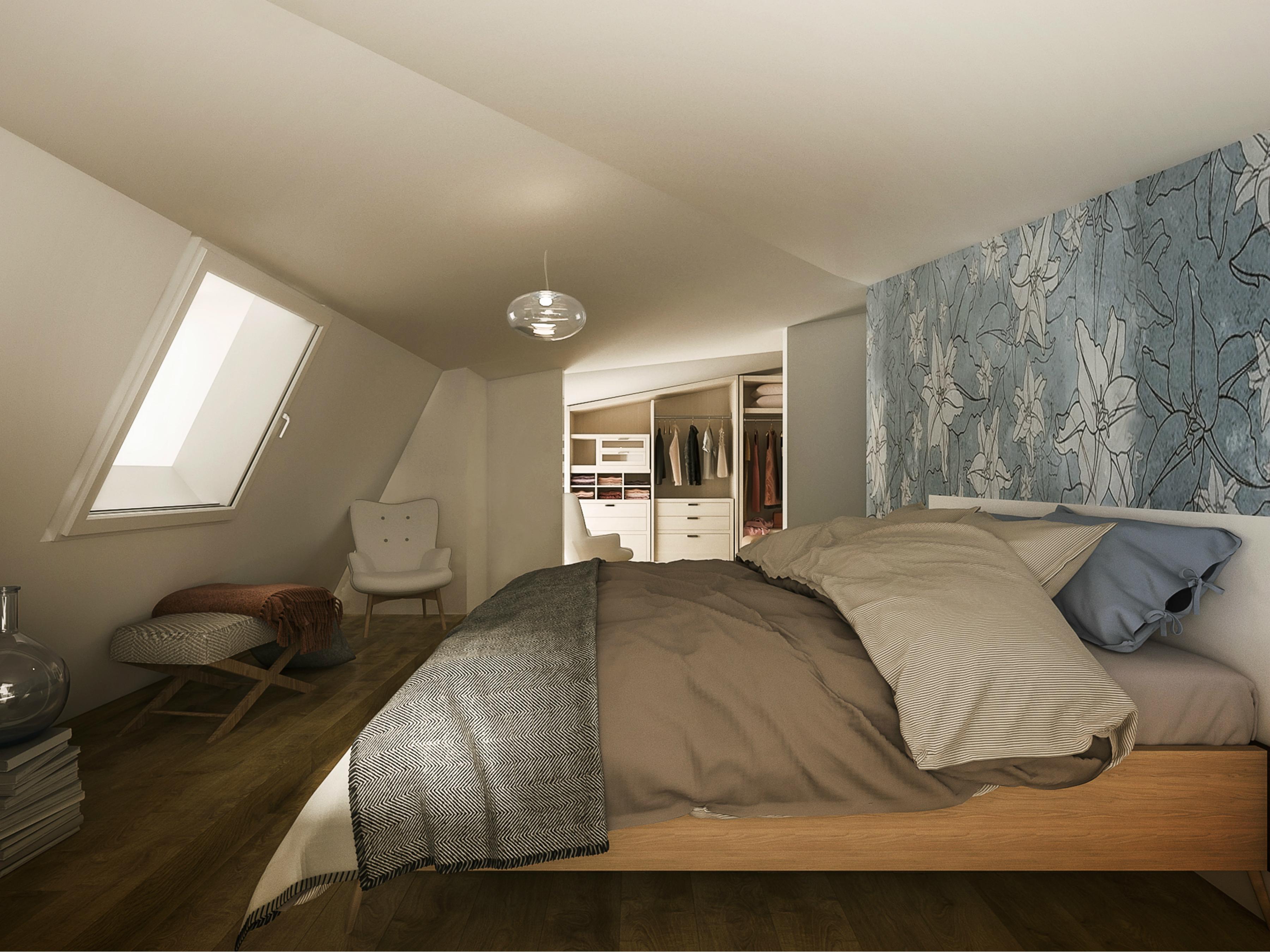 Camera da letto dopo gli interventi