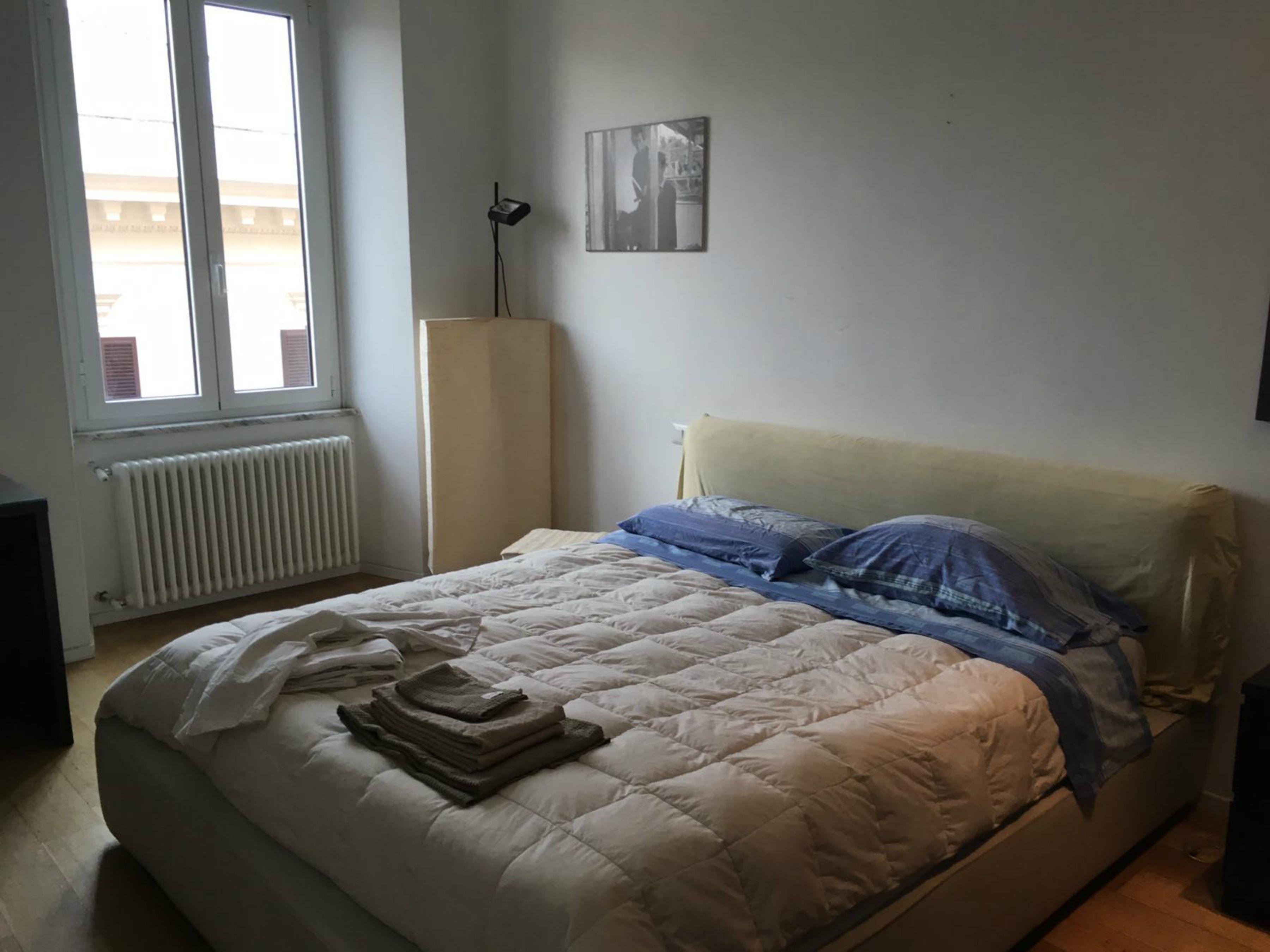Camera doppia airbnb prima dell'intervento